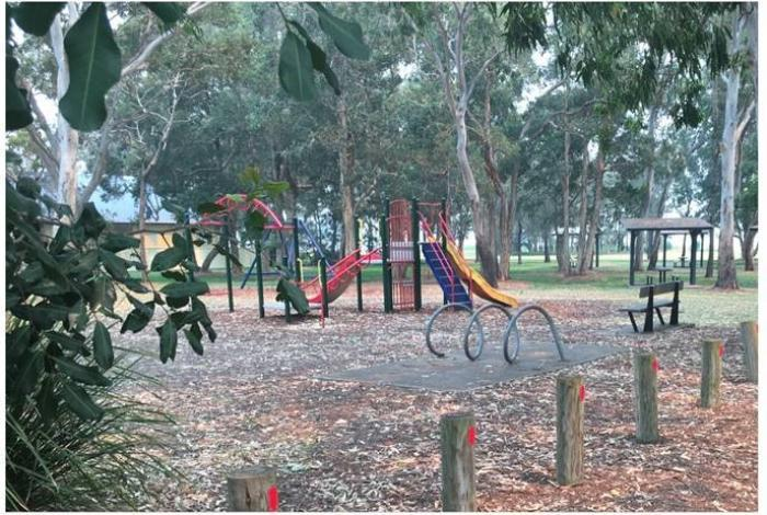 Current playspace at John Pete Howard Reserve