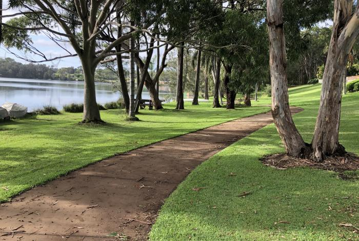 Mannering Park shared pathway proposed site